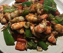 辣椒炒虾仁的做法