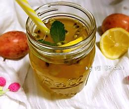 百香果柠檬薄荷蜜水果茶#单挑夏天#的做法
