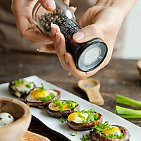 #快手又营养,我家的冬日必备菜品# 一口一个超鲜美的香菇酿蛋的做法图解7