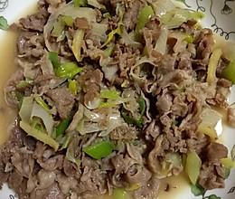清炒羊肉片的做法