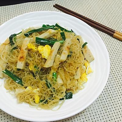 香炒韭菜鸡蛋米粉