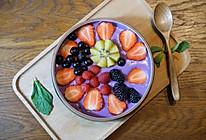 精致早餐:紫薯水果捞的做法