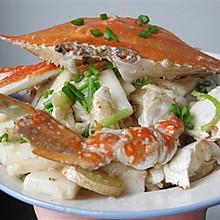既当菜又可当饭——梭子蟹炒年糕