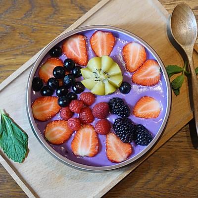 精致早餐:紫薯水果捞