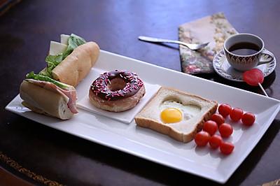 情人节爱心LOVE早餐