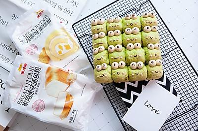 大眼青蛙挤挤小面包