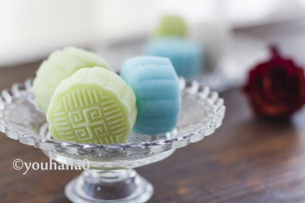 彩色冰皮月饼的做法