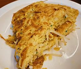 #餐桌上的春日限定#低脂可口|香葱豆芽煎肉蛋饼的做法