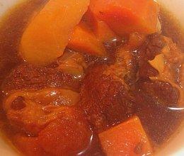 电饭锅版---西红柿牛腩炖土豆的做法