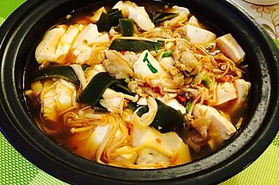 韩式海带豆腐锅