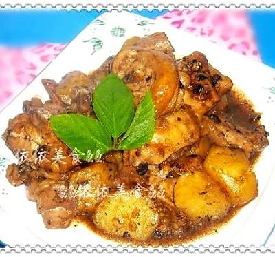 豆豉土豆焖鸡腿