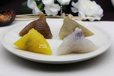 蔓越莓水晶粽子#莓汁莓味#