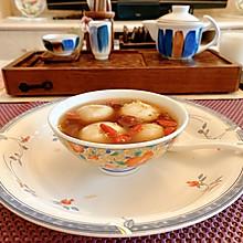 姜汁桂花红糖芝麻汤圆