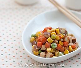 五分钟营养美味快手菜----蚝油四丁的做法