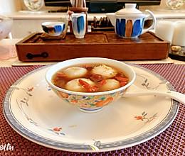 姜汁桂花红糖芝麻汤圆的做法