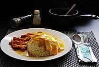 犹抱琵琶半遮面【咖喱猪排蛋包饭】附:被无数次追问的自制面包屑的做法