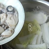 味谷   牡蛎白菜汤的做法图解3