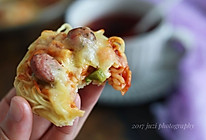 方便面火腿迷你披萨的做法