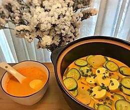 低脂懒人开胃菜谱:玉子豆腐酸辣汤的做法