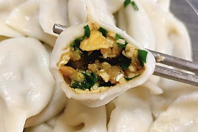 虾仁韭菜鸡蛋饺