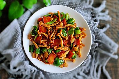 麻椒炒白玉菇