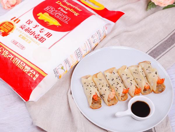 高蛋白营养鲜虾锅贴的做法