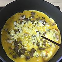 牛肉蘑菇芝士蛋饼的做法图解7