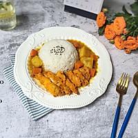 香酥鸡扒咖喱饭