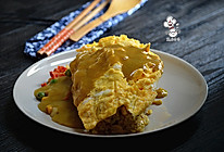日式咖喱蛋包饭#咖喱萌太奇#的做法