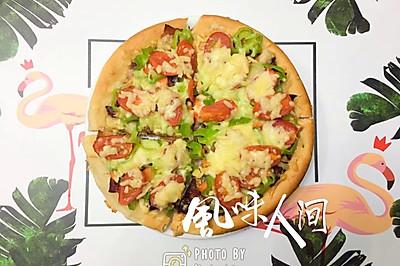 #节后清肠大作战#DIY 低脂培根蔬菜披萨