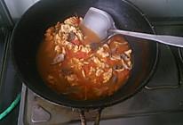 茄汁平菇鸡蛋面的做法