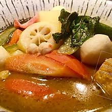 绿咖喱海鲜杂蔬