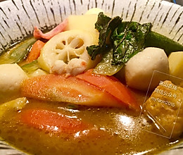 绿咖喱海鲜杂蔬的做法