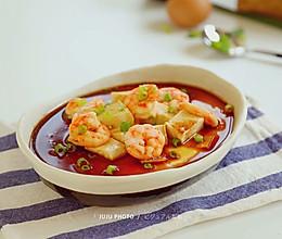 虾仁豆腐蒸水蛋的做法