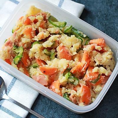 日式土豆泥沙拉——减肥午餐便当