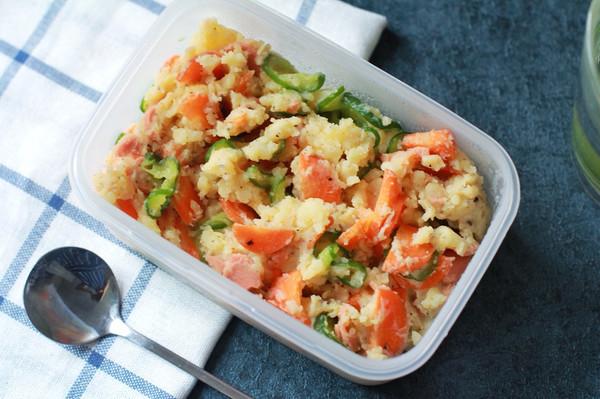 日式土豆泥沙拉——减肥午餐便当的做法