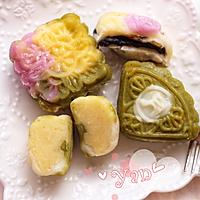 家好月圆-梦幻彩色冰皮月饼的做法图解16