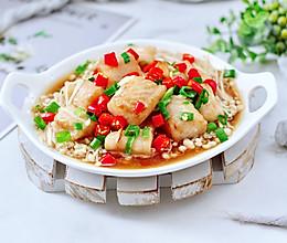 #下饭红烧菜#金针菇蒸龙利鱼的做法