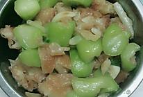 老油条炒丝瓜的做法