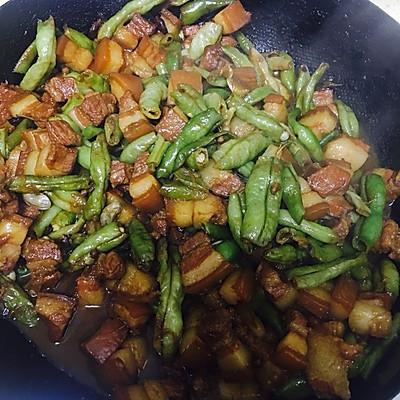 五花肉炖豆角