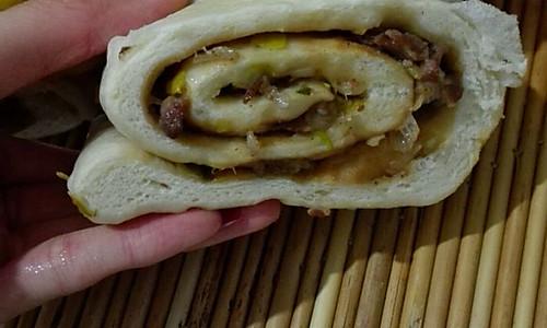 超好吃的肉卷(大葱猪肉馅)的做法