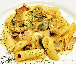 Pasta!之【奶油培根蘑菇意面】的做法
