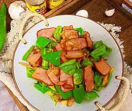 #味达美名厨福气汁,新春添口福#青椒炒腊肉的做法
