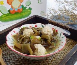 海带肉丸汤~懒人菜的做法