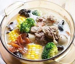 时蔬大骨汤的做法