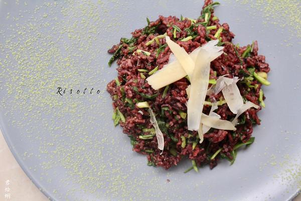意大利马兰头紫米烩饭Risotto•春天乡野的味道(五)的做法