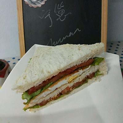 减肥餐  低脂三明治