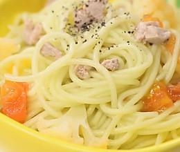 清热去火开胃宝宝辅食【番茄花菜黄瓜细面】的做法