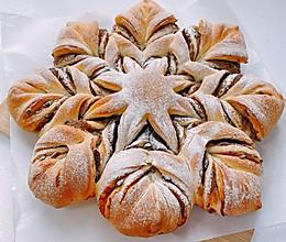 #换着花样吃早餐#雪花——豆沙面包的做法
