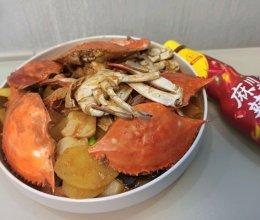 #豪吉川香美味#川香梭子蟹年糕的做法